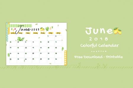 6.june- Colorful Calendar